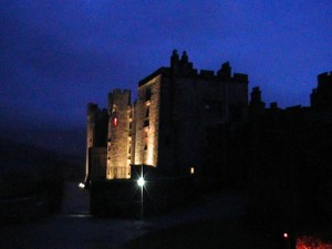 Muncaster Castle at night